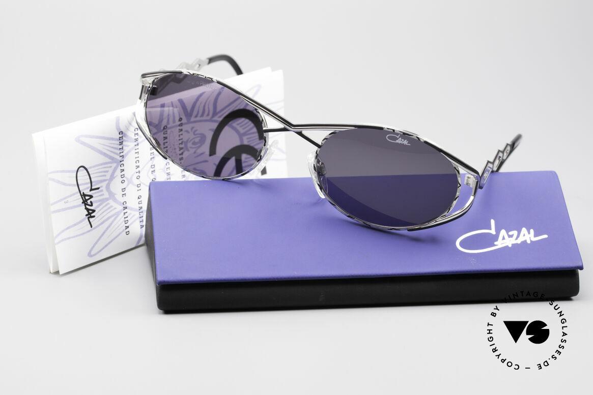 Cazal 977 Vintage Sonnenbrille Damen, graue original CAZAL Sonnengläser (100% UV Schutz), Passend für Damen