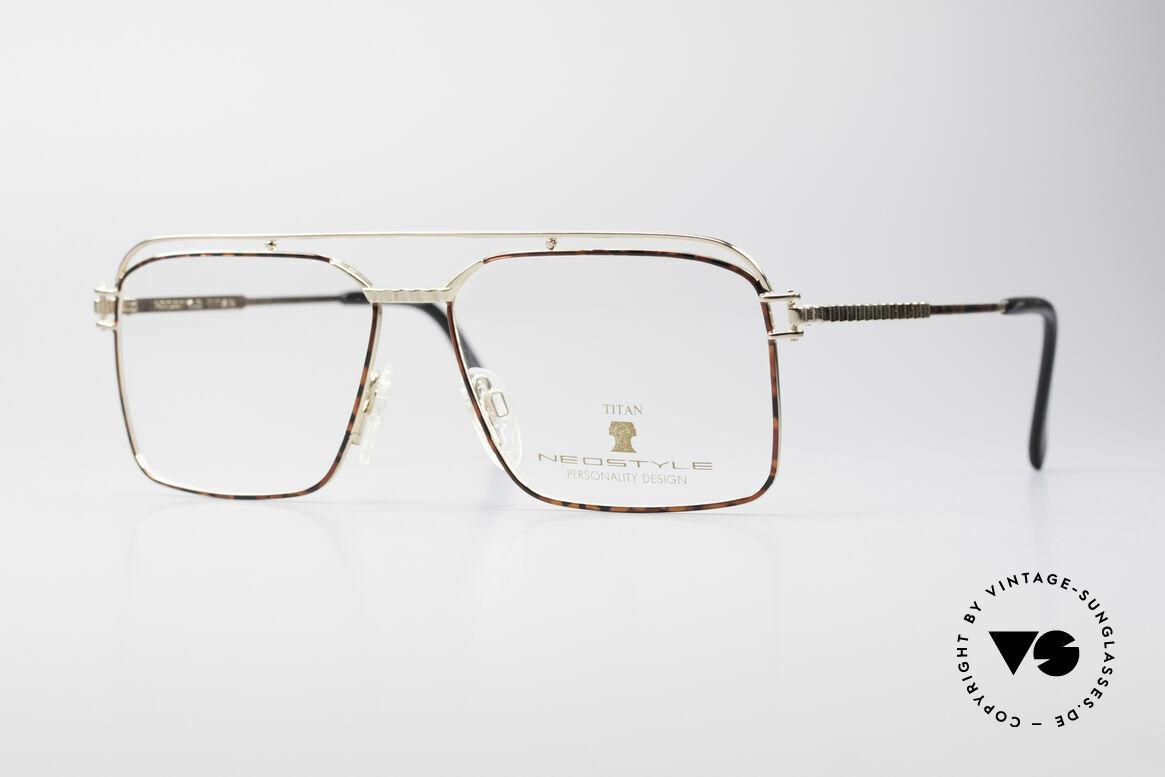 Neostyle Dynaty 424 - L 80er Titan Herrenfassung, sehr markante Neostyle Herrenbrille; Gr. LARGE, Passend für Herren