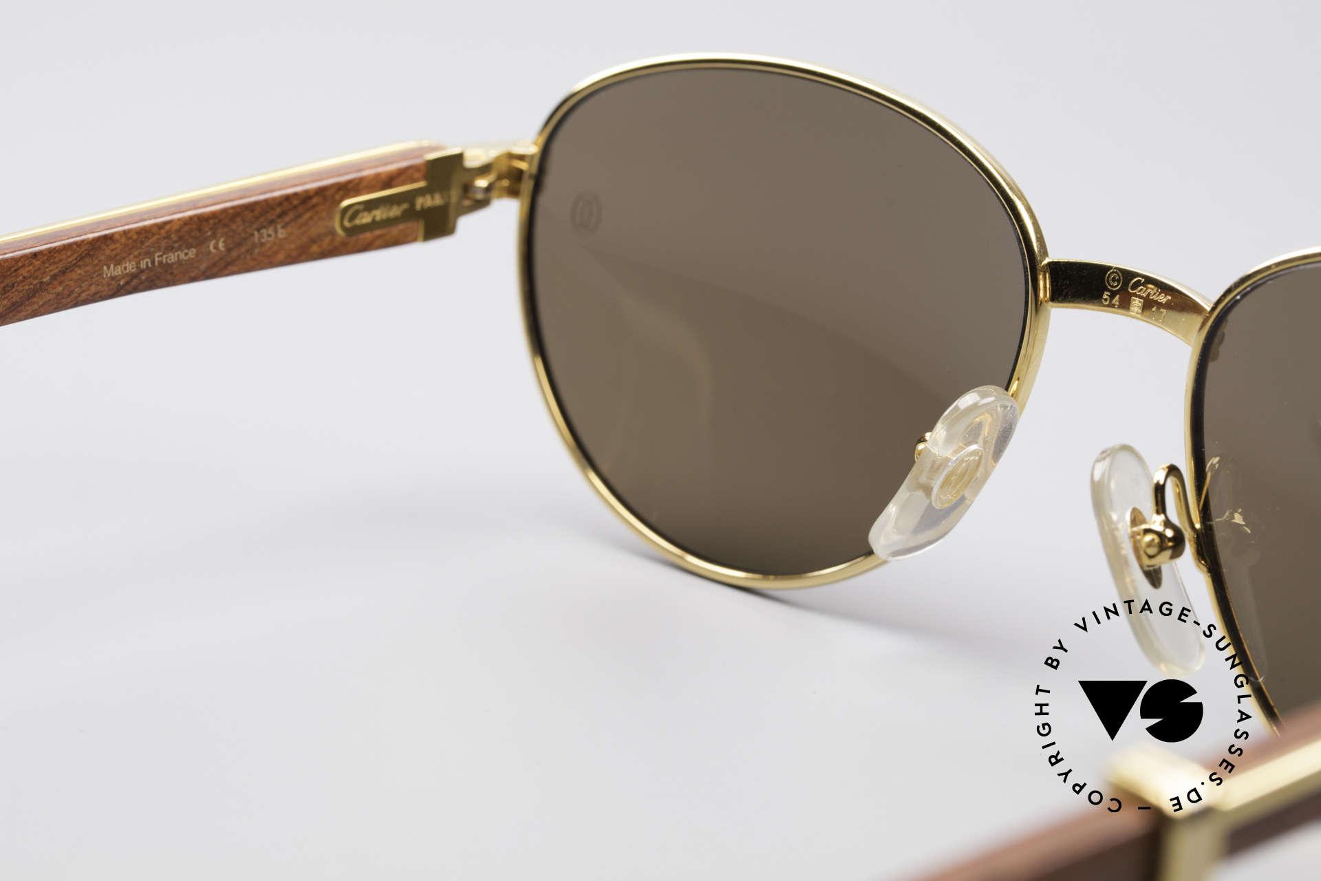 1d97af3a24 Sonnenbrillen Cartier Auteuil Panto Edelholz Sonnenbrille