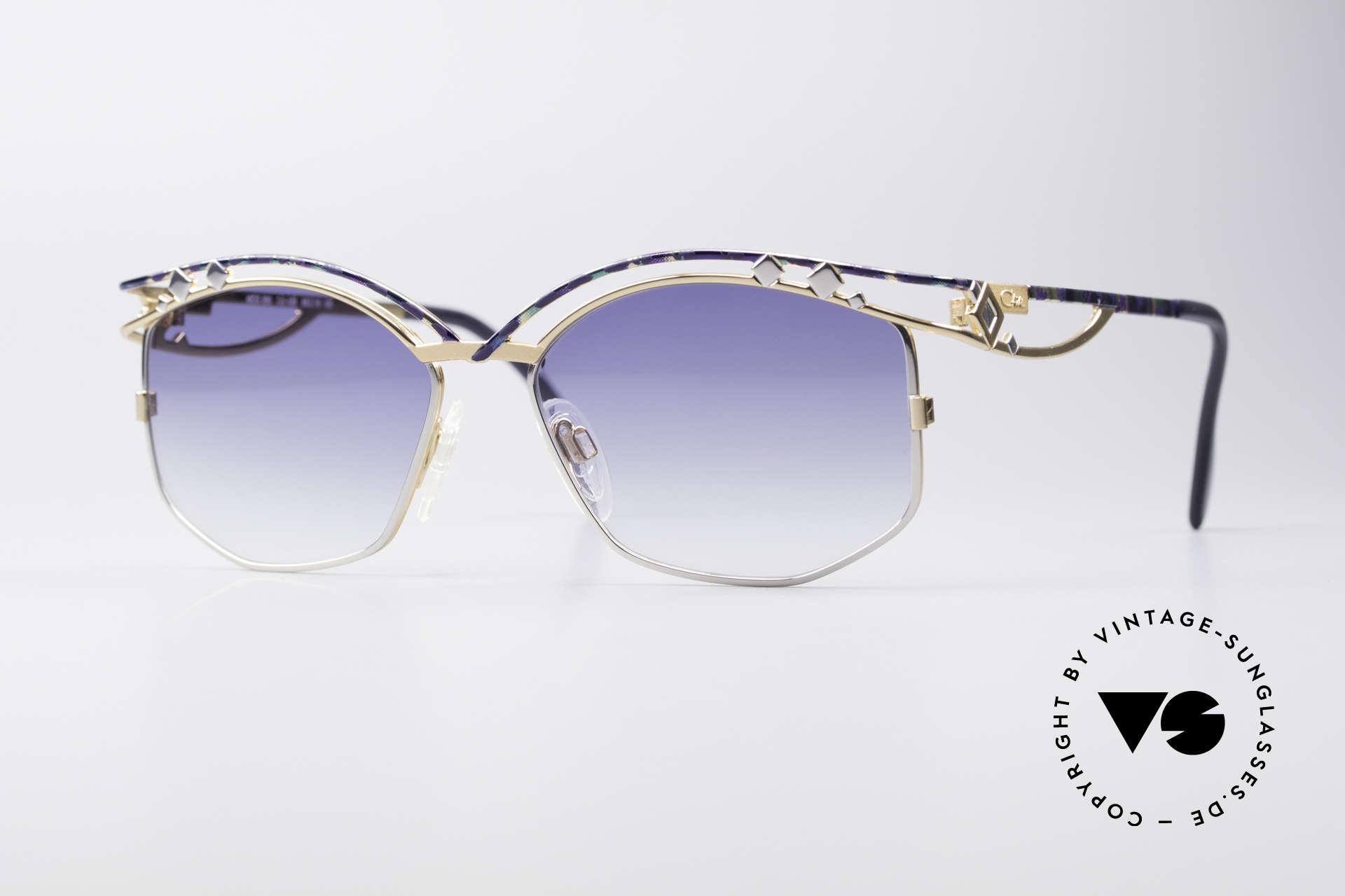 Cazal 280 Vintage Damen Sonnenbrille, echte Cazal vintage Designer-Brille von ca. 1997, Passend für Damen