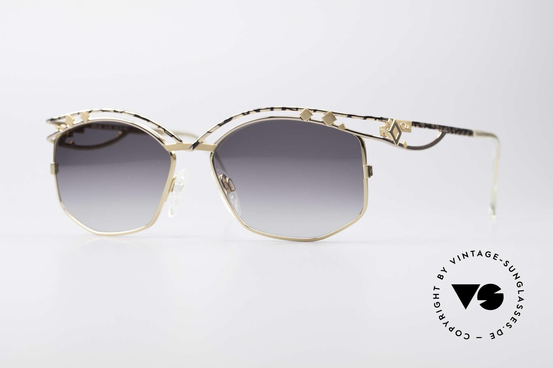 Cazal 280 Rare 90er Damen Sonnenbrille, echte Cazal vintage Designer-Brille von ca. 1997, Passend für Damen