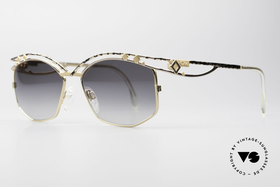 Cazal 280 Rare 90er Damen Sonnenbrille, enorm aufwendig produziertes DESIGNER-Stück, Passend für Damen