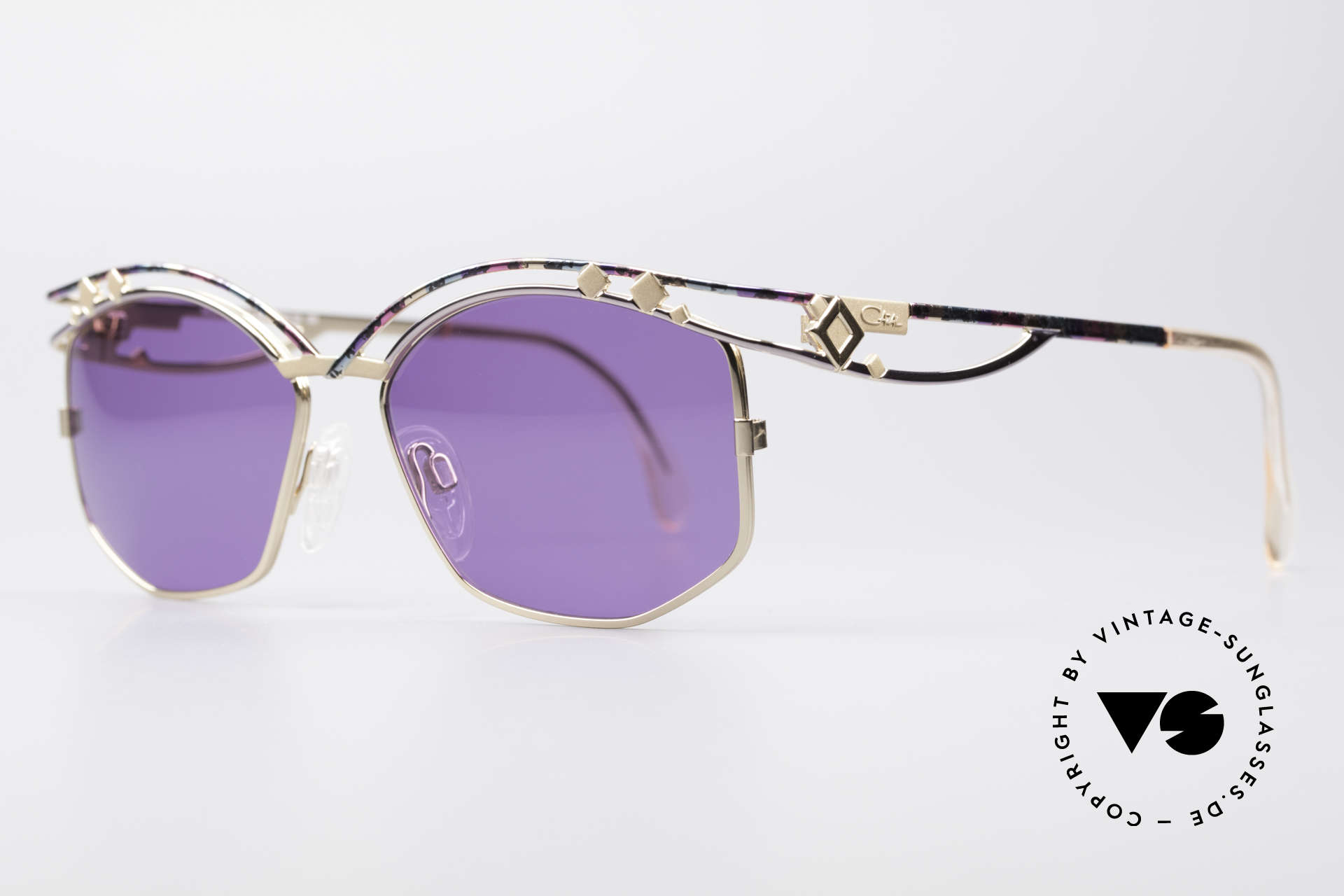 Cazal 280 Designer Sonnenbrille Damen, enorm aufwendig produziertes DESIGNER-Stück, Passend für Damen