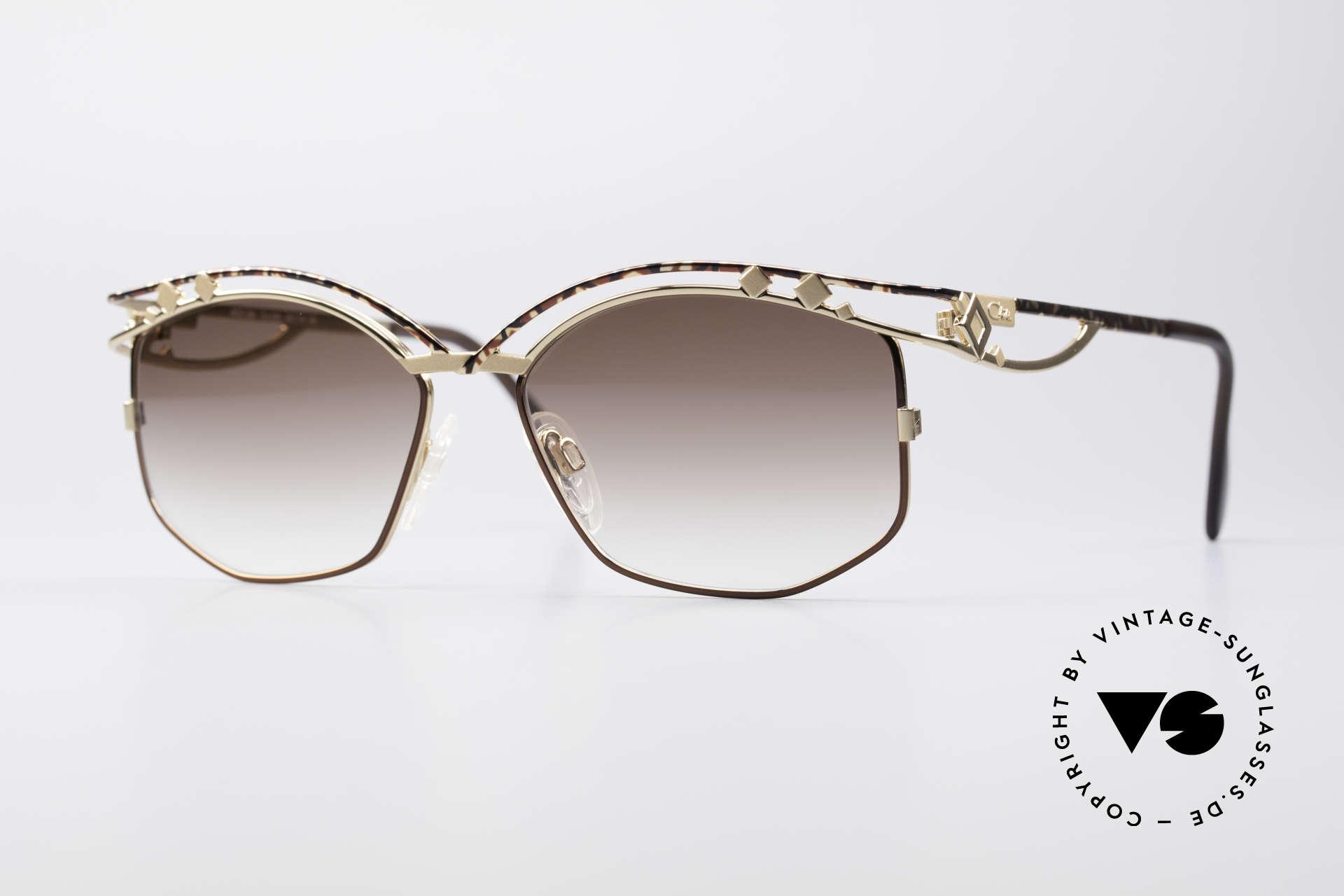 Cazal 280 Designer Damen Sonnenbrille, echte Cazal vintage Designer-Brille von ca. 1997, Passend für Damen