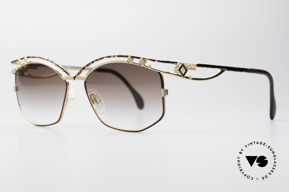 Cazal 280 Designer Damen Sonnenbrille, enorm aufwendig produziertes DESIGNER-Stück!, Passend für Damen