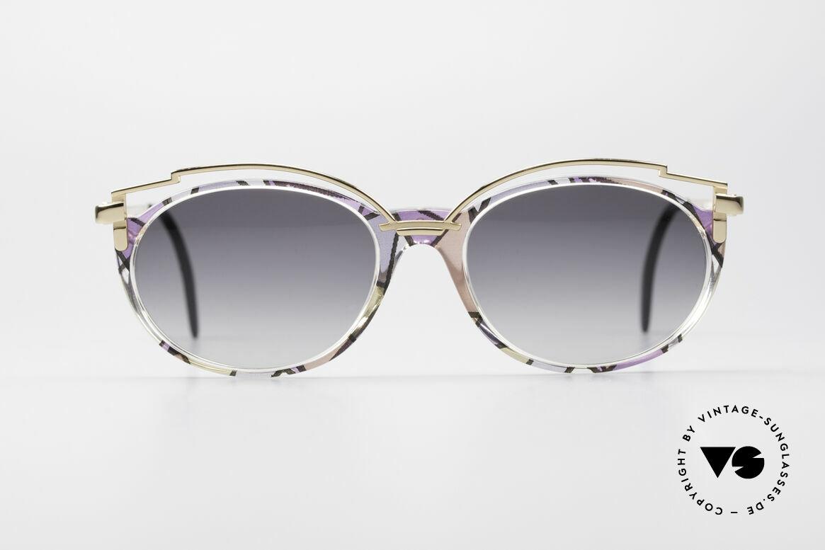 Cazal 358 90er Creation Cazal Brille, elegante Verzierung oberhalb des Kunststoff-Rahmens, Passend für Damen