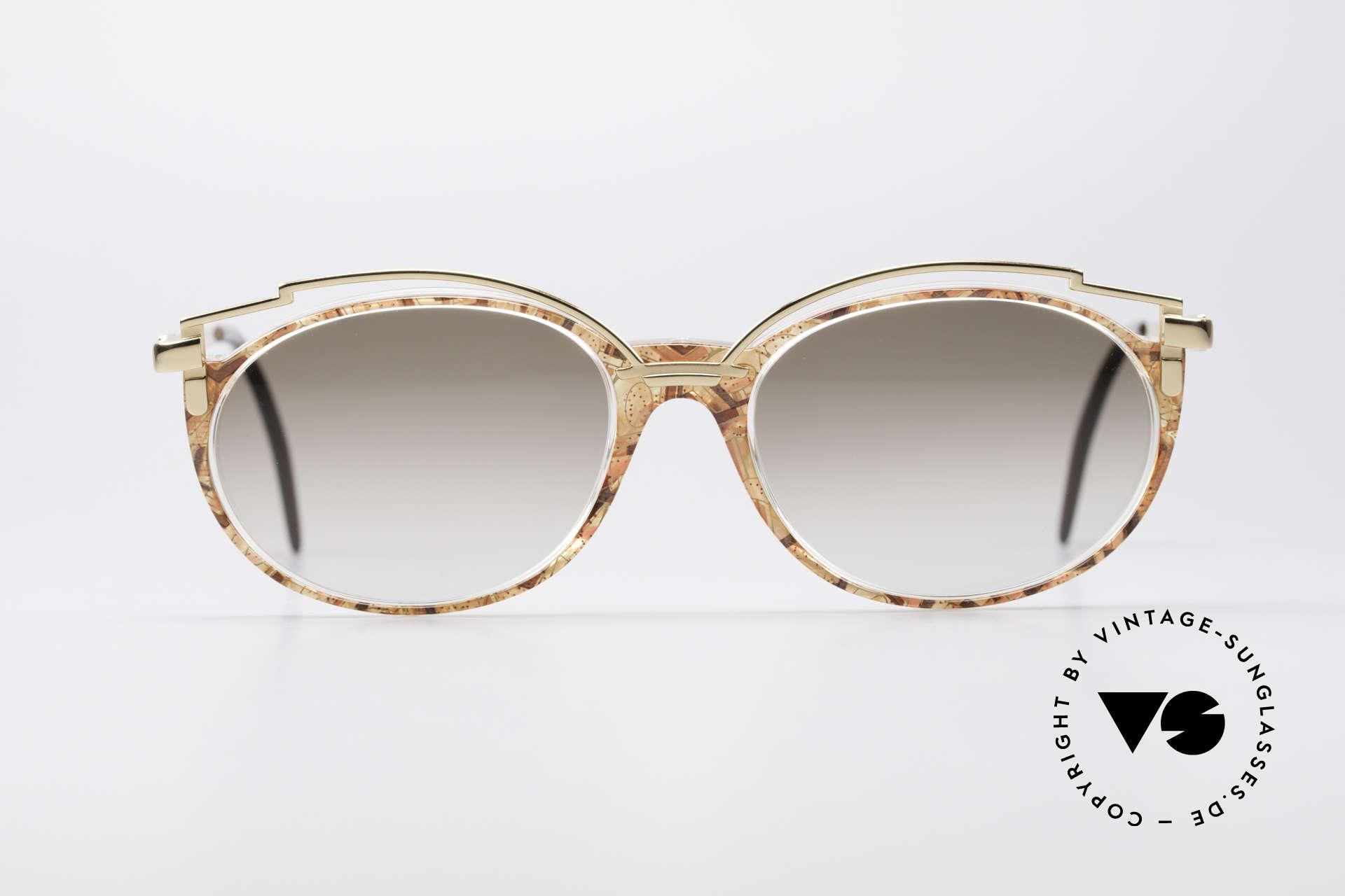 Cazal 358 90er Damen Sonnenbrille Vintage, elegante Verzierung oberhalb des Kunststoff-Rahmens, Passend für Damen