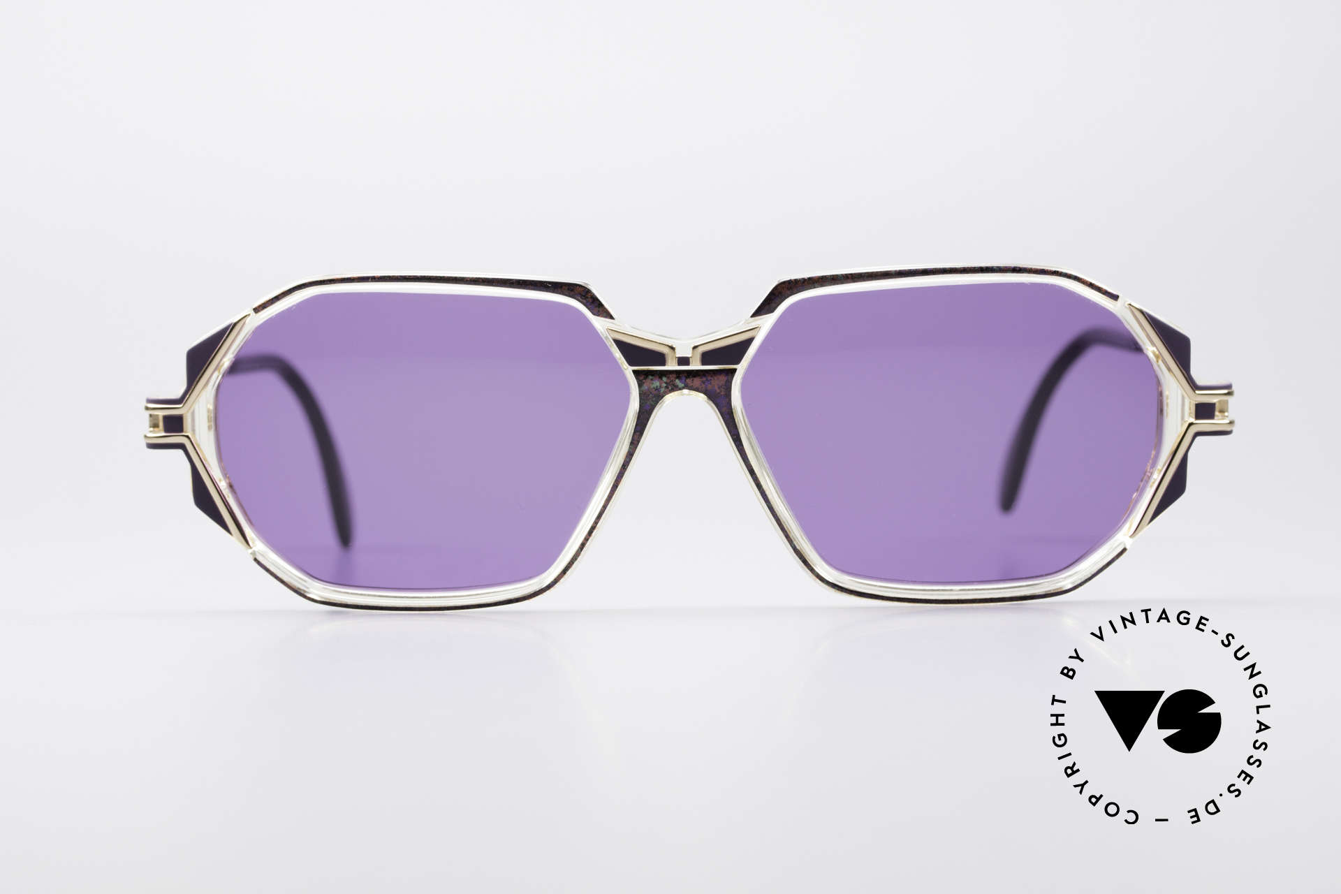 Cazal 361 Original 90er Sonnenbrille, tolle Gestaltung der Bügelgelenke & Rahmenmuster, Passend für Damen