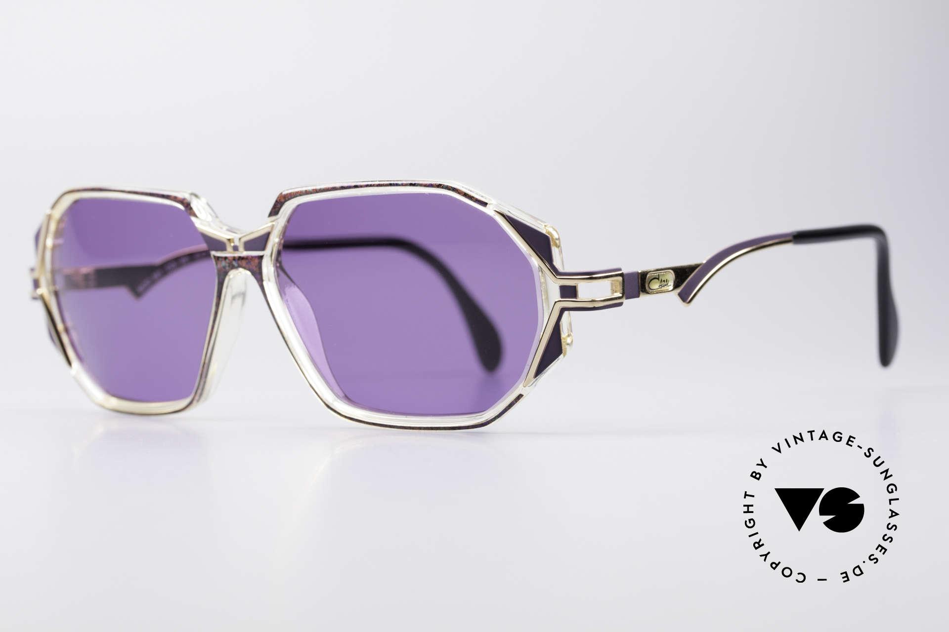 Cazal 361 Original 90er Sonnenbrille, zauberhafte Kombination aus Materialien & Farben, Passend für Damen