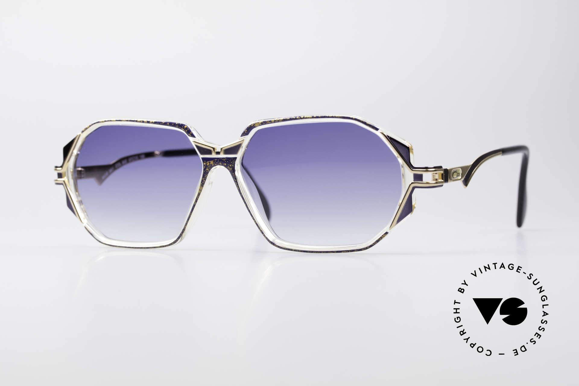 Cazal 361 Designersonnenbrille No Retro, schmuckvolles Cazal Design der frühen 90er Jahre, Passend für Damen