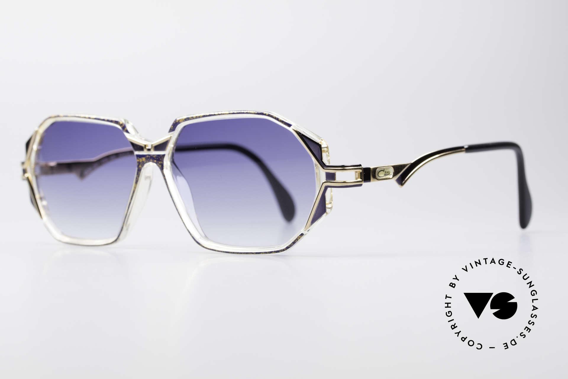 Cazal 361 Designersonnenbrille No Retro, zauberhafte Kombination aus Materialien & Farben, Passend für Damen