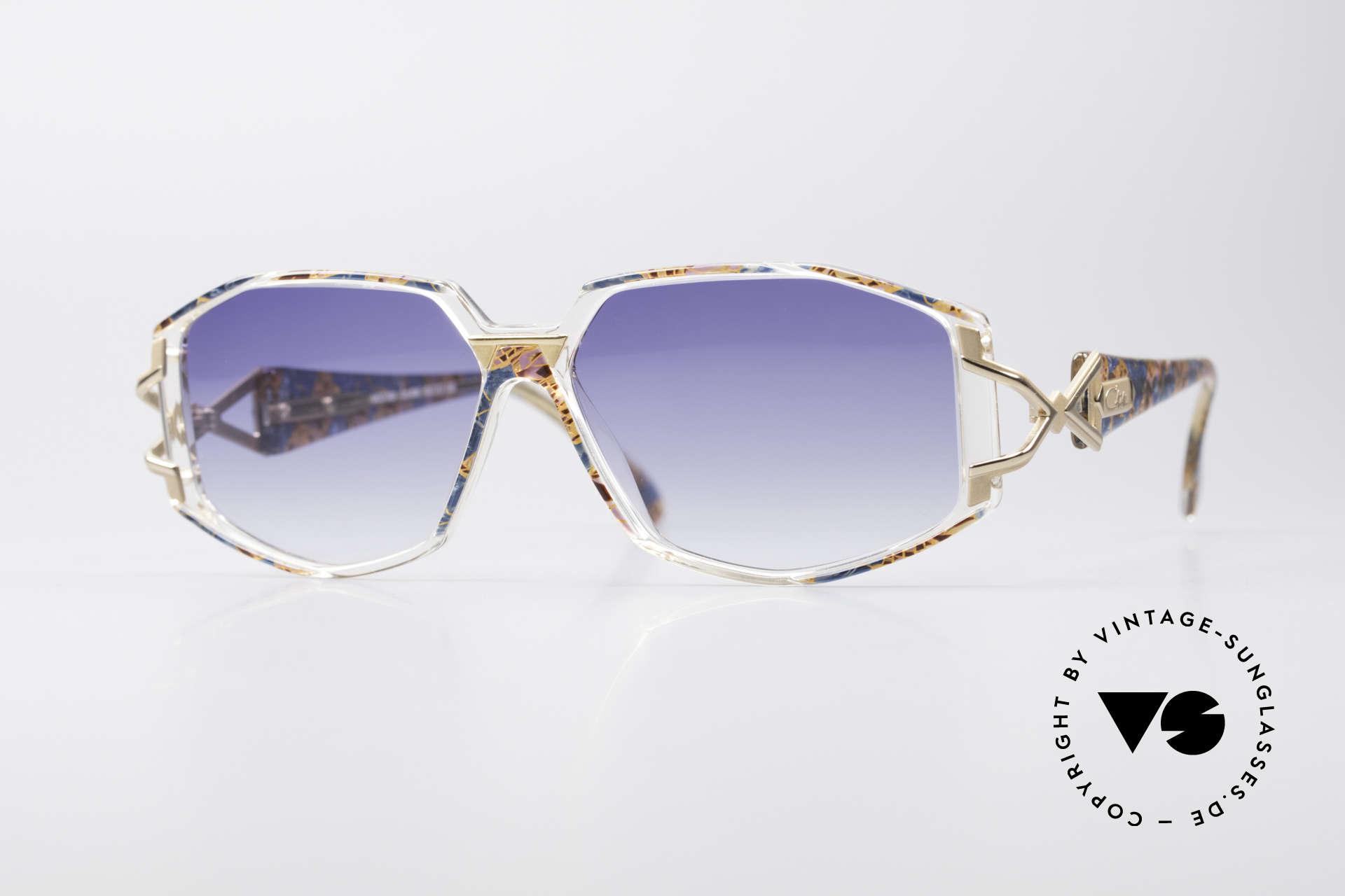 Cazal 368 90er Hip Hop Old School Brille, schmuckvolles CAZAL Design der frühen 90er Jahre, Passend für Damen