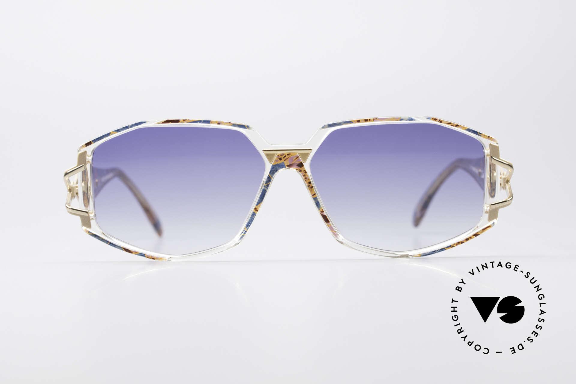 Cazal 368 90er Hip Hop Old School Brille, tolle Gestaltung der Bügelgelenke & Rahmenmuster, Passend für Damen