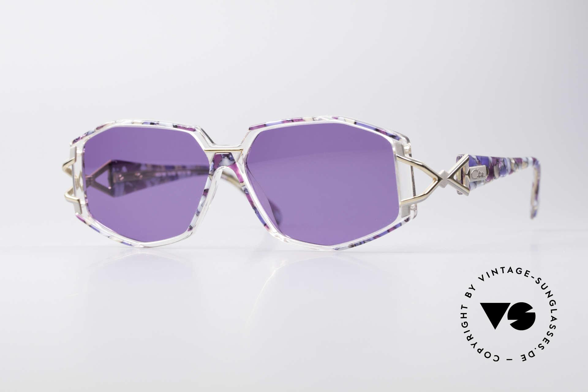 Cazal 368 90er Sonnenbrille Hip Hop Style, schmuckvolles Cazal Design der frühen 90er Jahre, Passend für Damen