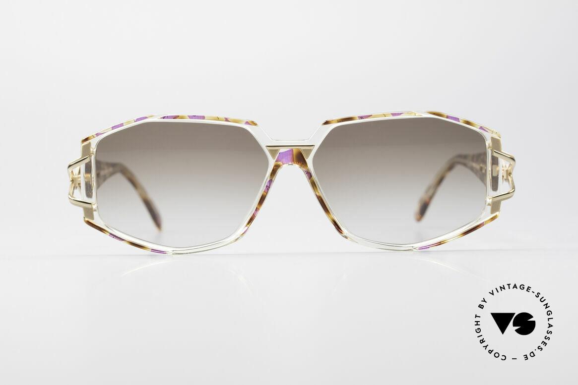 Cazal 368 Designerbrille Hip Hop Style, tolle Gestaltung der Bügelgelenke & Rahmenmuster, Passend für Damen