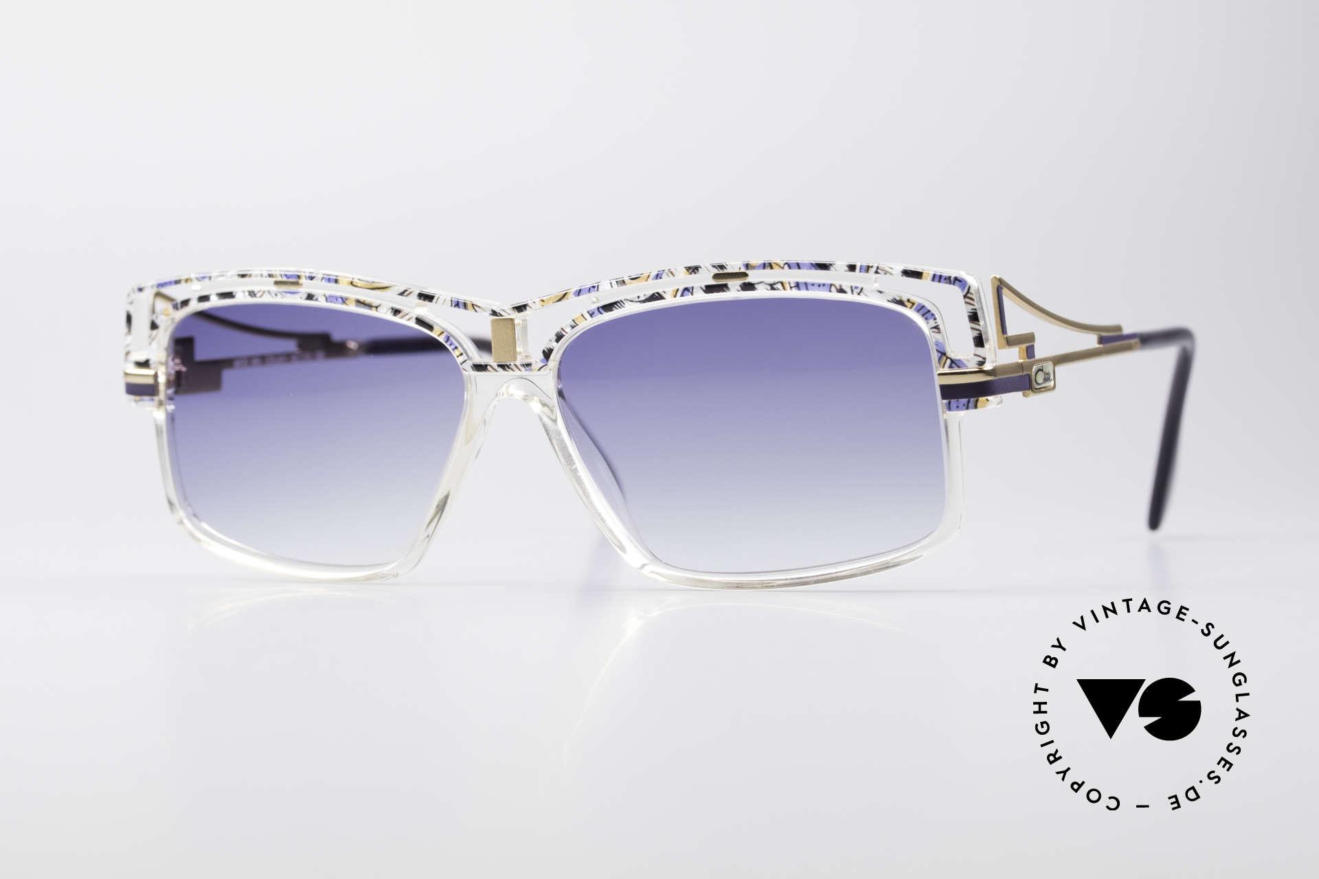 Cazal 365 Vintage 90er Hip Hop Brille, markante Cazal vintage Sonnenbrille aus den 90ern, Passend für Herren und Damen