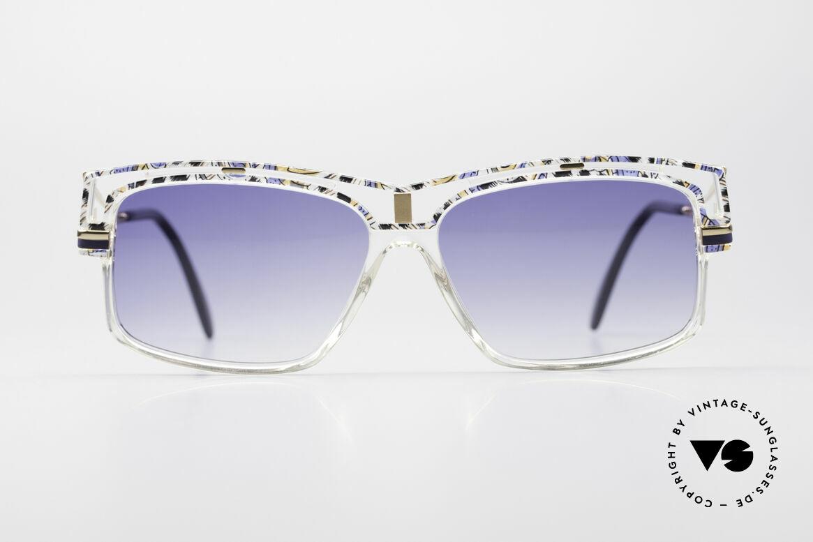 Cazal 365 Vintage 90er Hip Hop Brille, geniale Kombination v. Farben, Form & Materialien, Passend für Herren und Damen