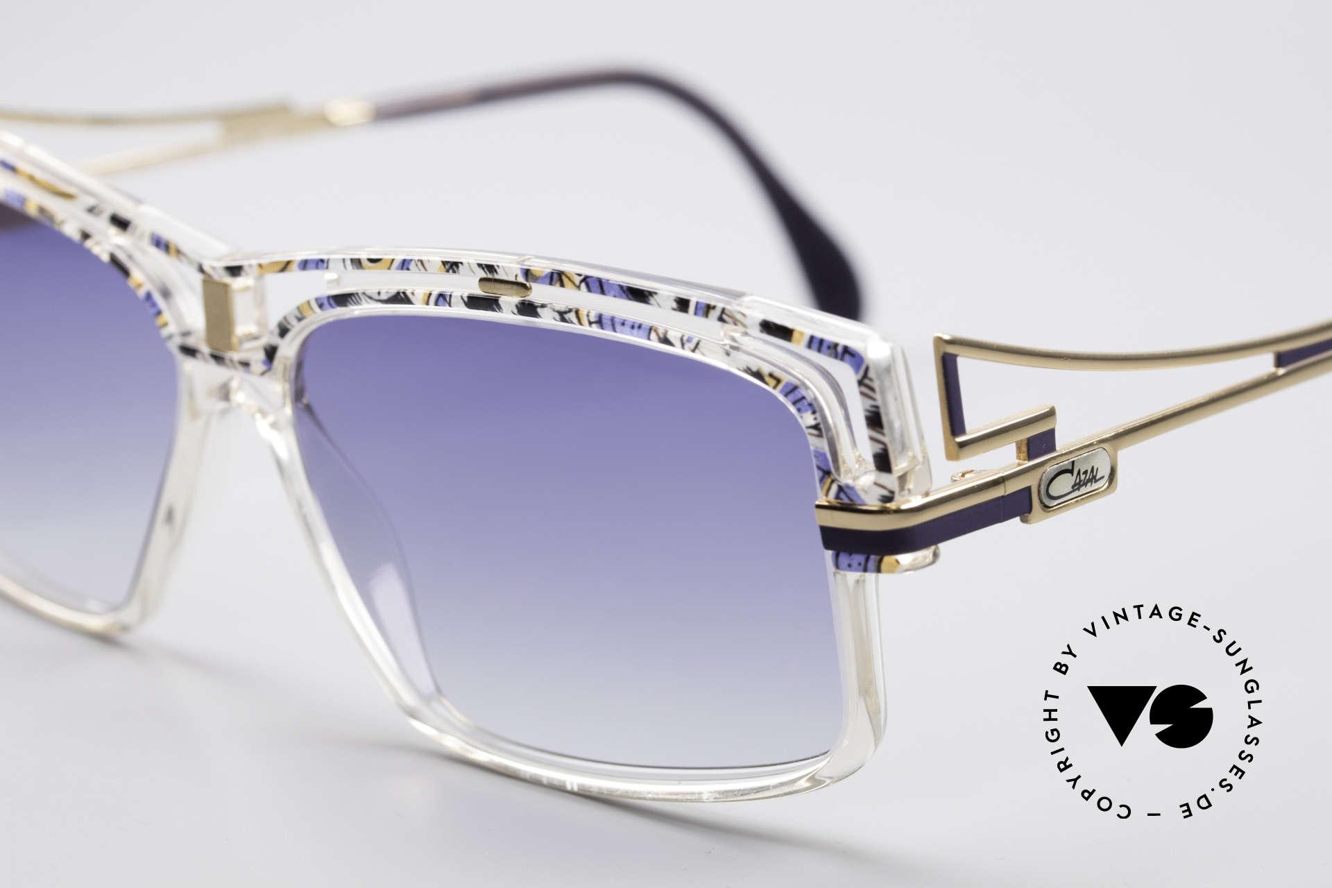 Cazal 365 Vintage 90er Hip Hop Brille, markanter ausdrucksstarker Rahmen, Hip-Hop Brille, Passend für Herren und Damen