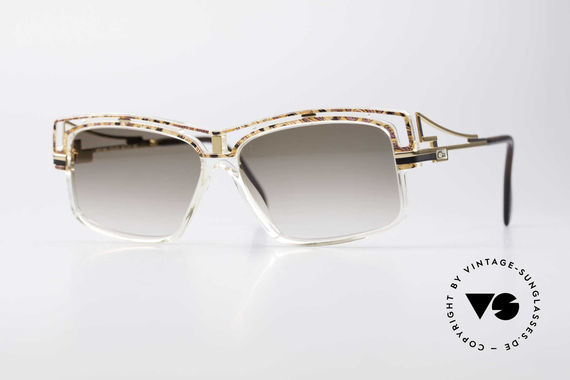 Cazal 365 Vintage No Retro Sonnenbrille, markante Cazal vintage Sonnenbrille aus den 90ern, Passend für Herren und Damen