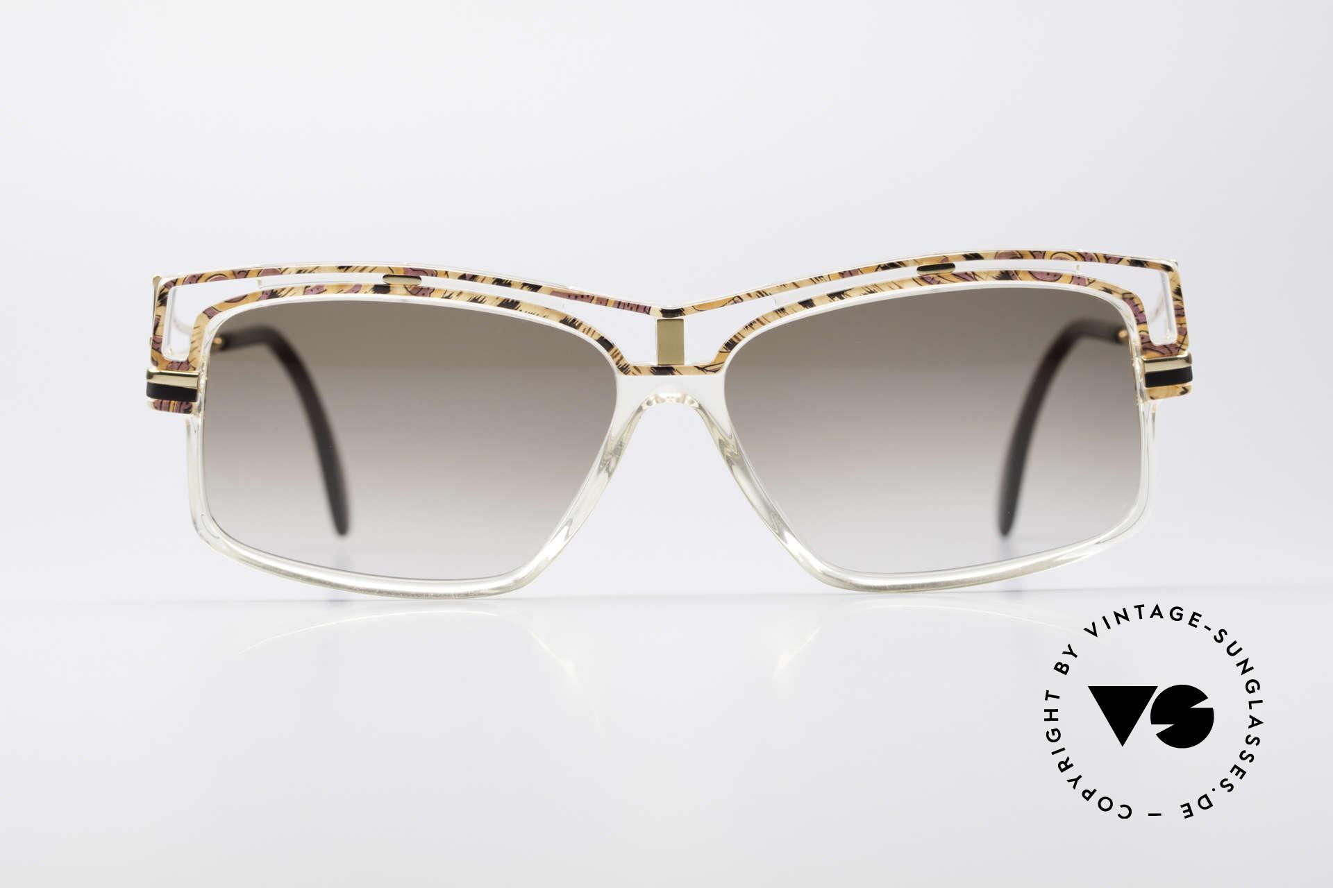 Cazal 365 Vintage No Retro Sonnenbrille, geniale Kombination v. Farben, Form & Materialien, Passend für Herren und Damen