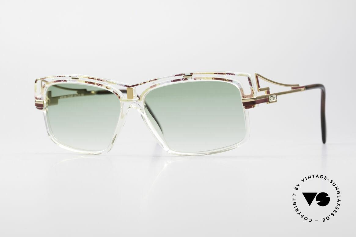 Cazal 365 No Retro 90er Hip Hop Brille, markante Cazal vintage Sonnenbrille aus den 90ern, Passend für Herren und Damen