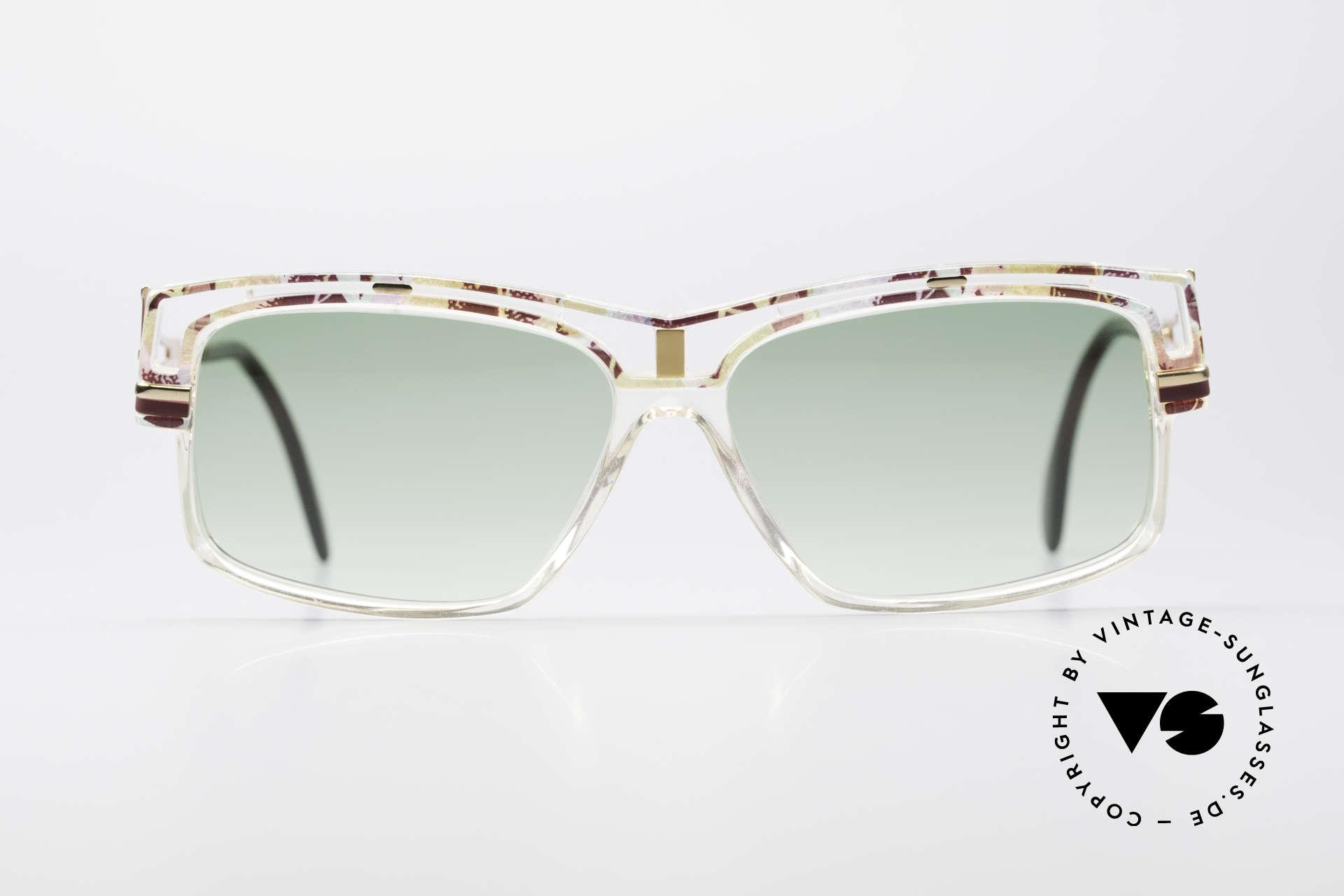 Cazal 365 No Retro 90er Hip Hop Brille, geniale Kombination v. Farben, Form & Materialien, Passend für Herren und Damen