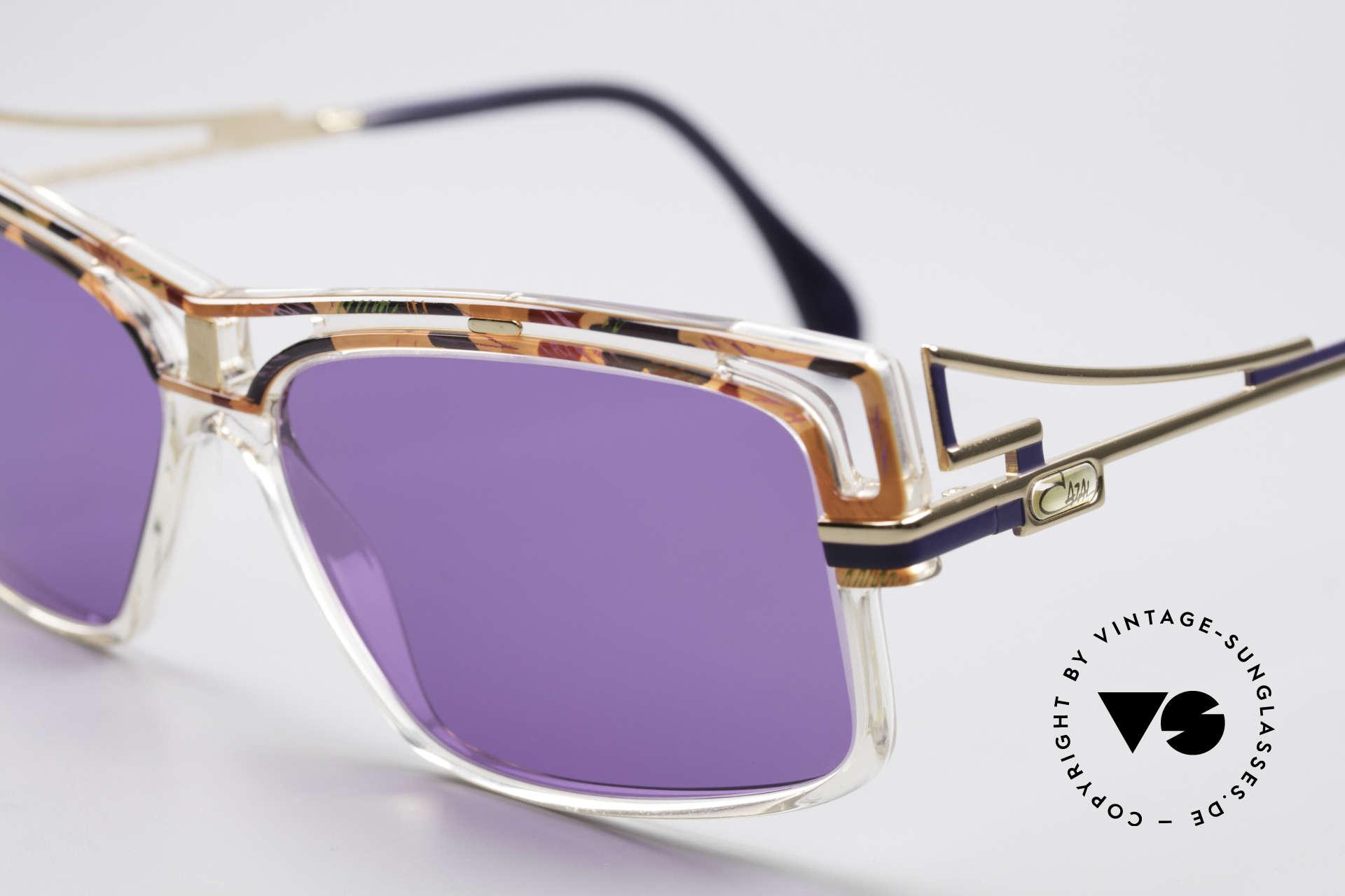 Cazal 365 No Retrobrille Echt Vintage 90er, markanter ausdrucksstarker Rahmen, Hip-Hop Brille, Passend für Herren und Damen
