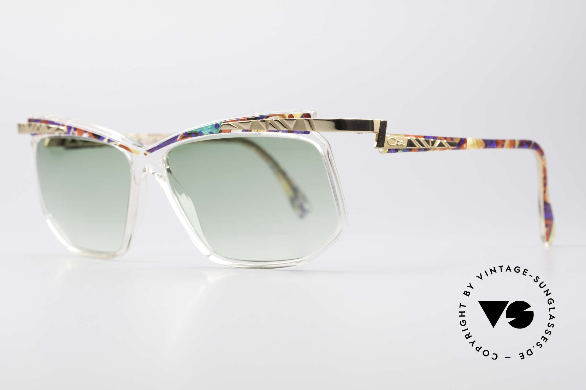 Cazal 366 Vintage Sonnenbrille Hip Hop, in Passau gefertigt - daher auch 'Frame Germany', Passend für Herren und Damen