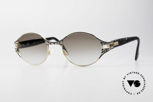Cazal 281 Ovale Designer Sonnenbrille Details
