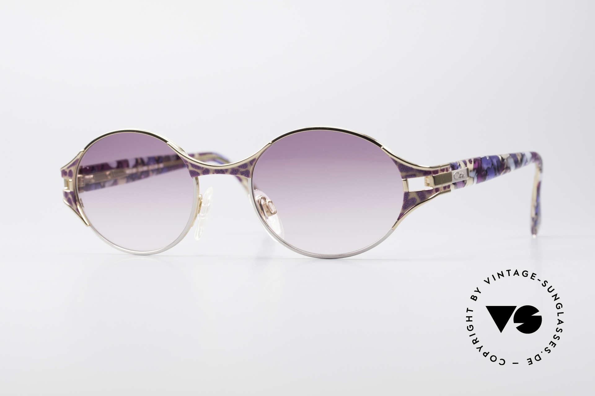 Cazal 281 Ovale Vintage Sonnnenbrille, CAZAL vintage Sonnenbrille aus den späten 90ern, Passend für Damen