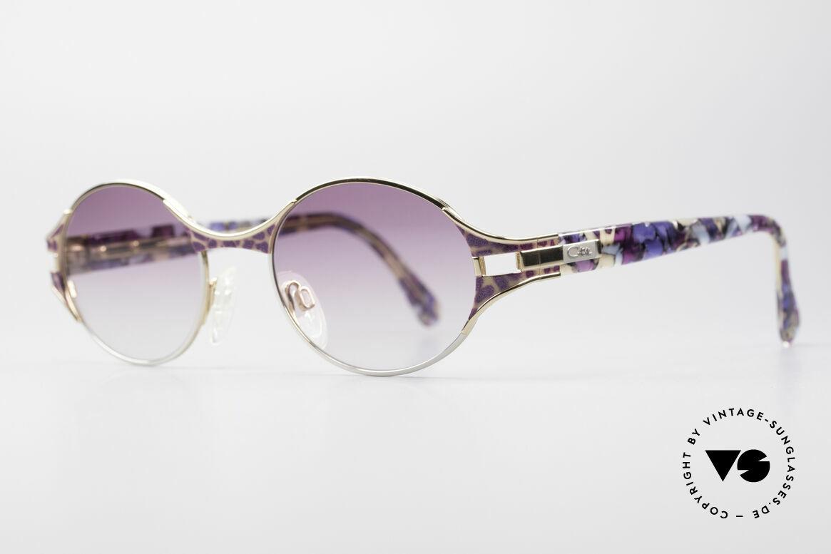 Cazal 281 Ovale Vintage Sonnnenbrille, tolles Zusammenspiel diverser Design-Elemente, Passend für Damen