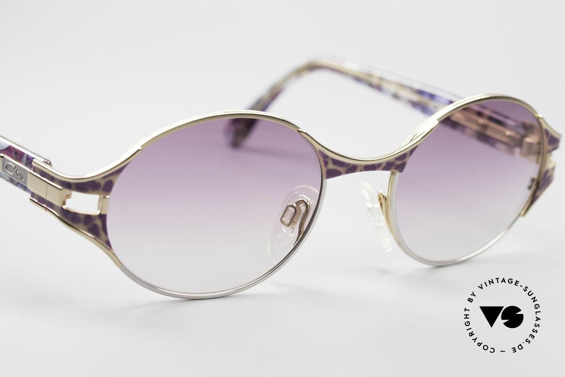 Cazal 281 Ovale Vintage Sonnnenbrille, hochwertige Fassung kann beliebig verglast werden, Passend für Damen