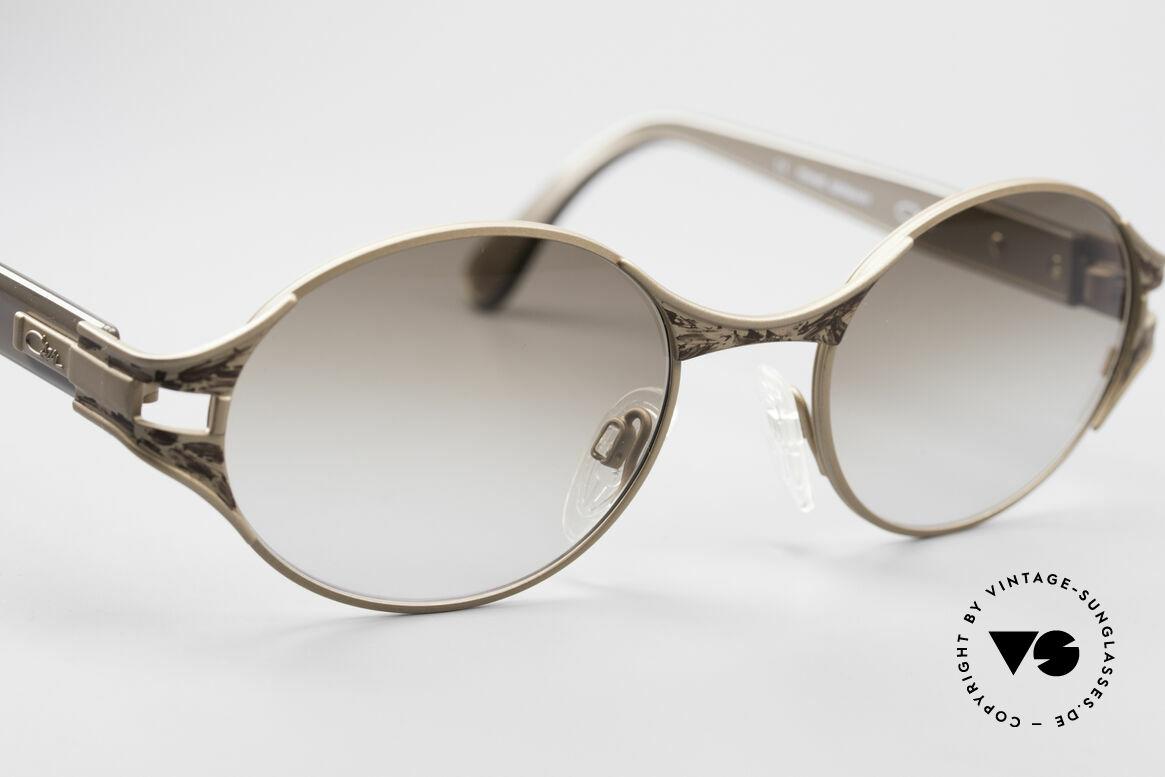 Cazal 281 90er Damen Sonnenbrille Oval, hochwertige Fassung kann beliebig verglast werden, Passend für Damen