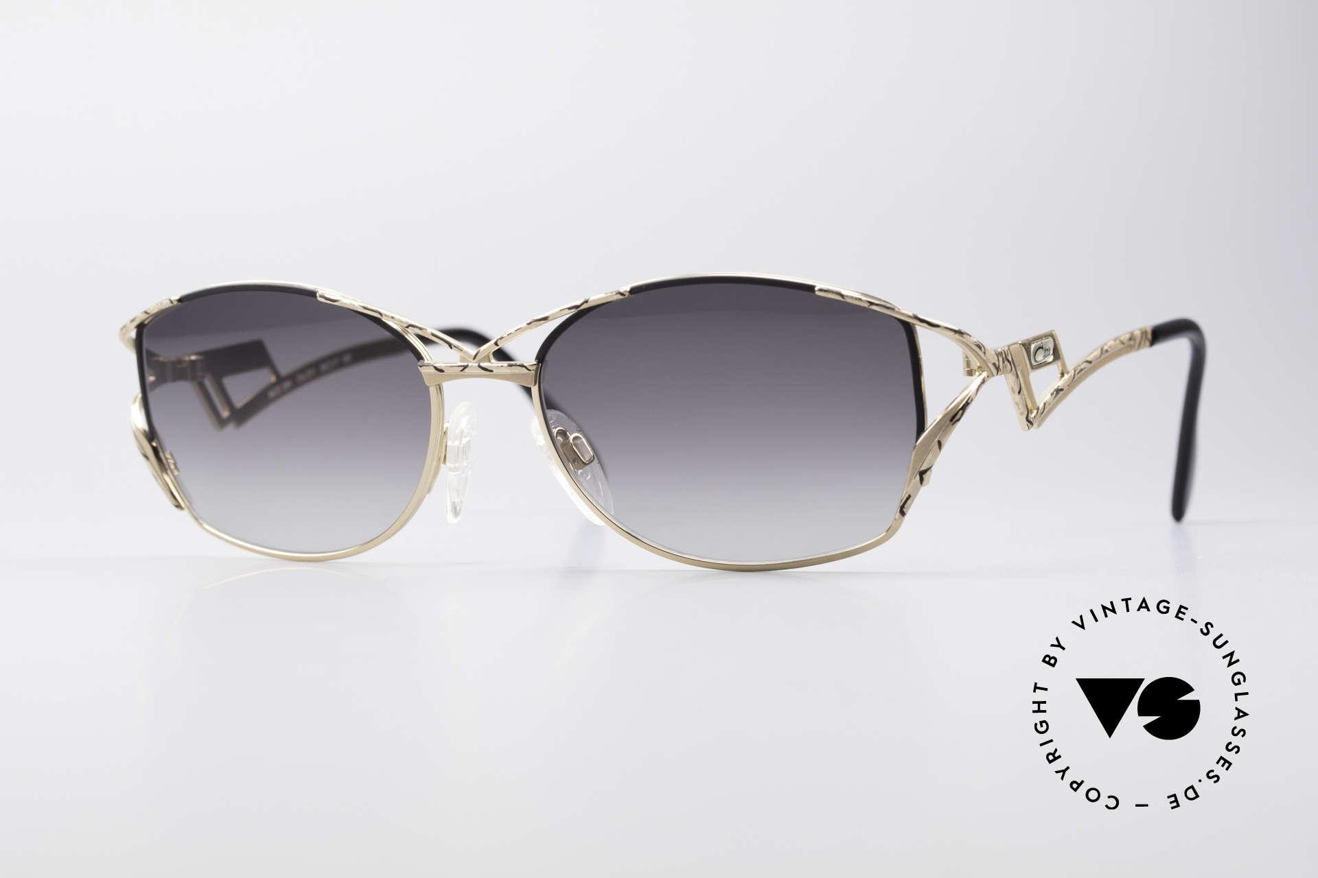 Cazal 284 Luxus Vintage Sonnenbrille, außergewöhnliche Cazal Brille aus den späten 90ern, Passend für Damen