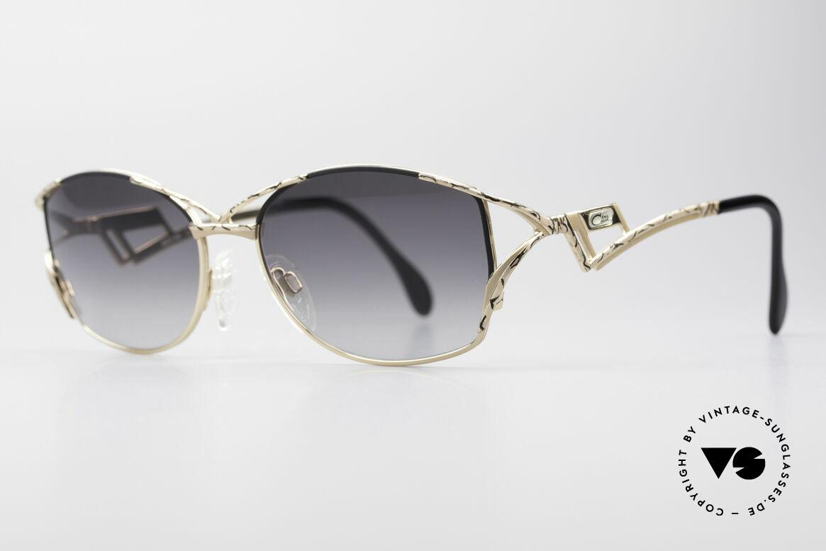 Cazal 284 Luxus Vintage Sonnenbrille, originelle Bügelform & sehr edle Rahmen-Lackierung, Passend für Damen