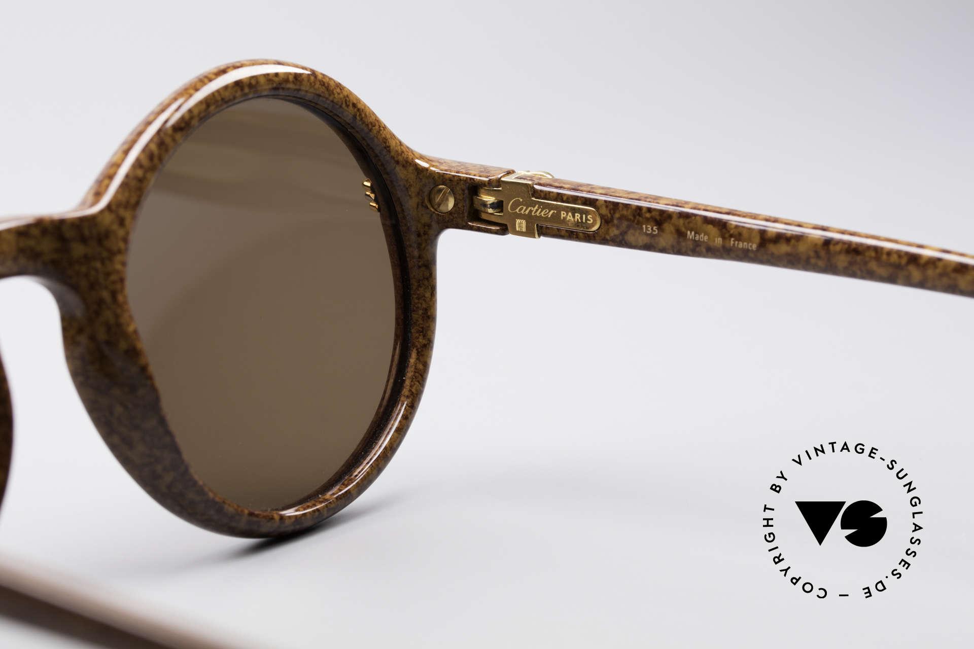 3b7999599c Sonnenbrillen Cartier Cabriolet Runde Luxus Sonnenbrille