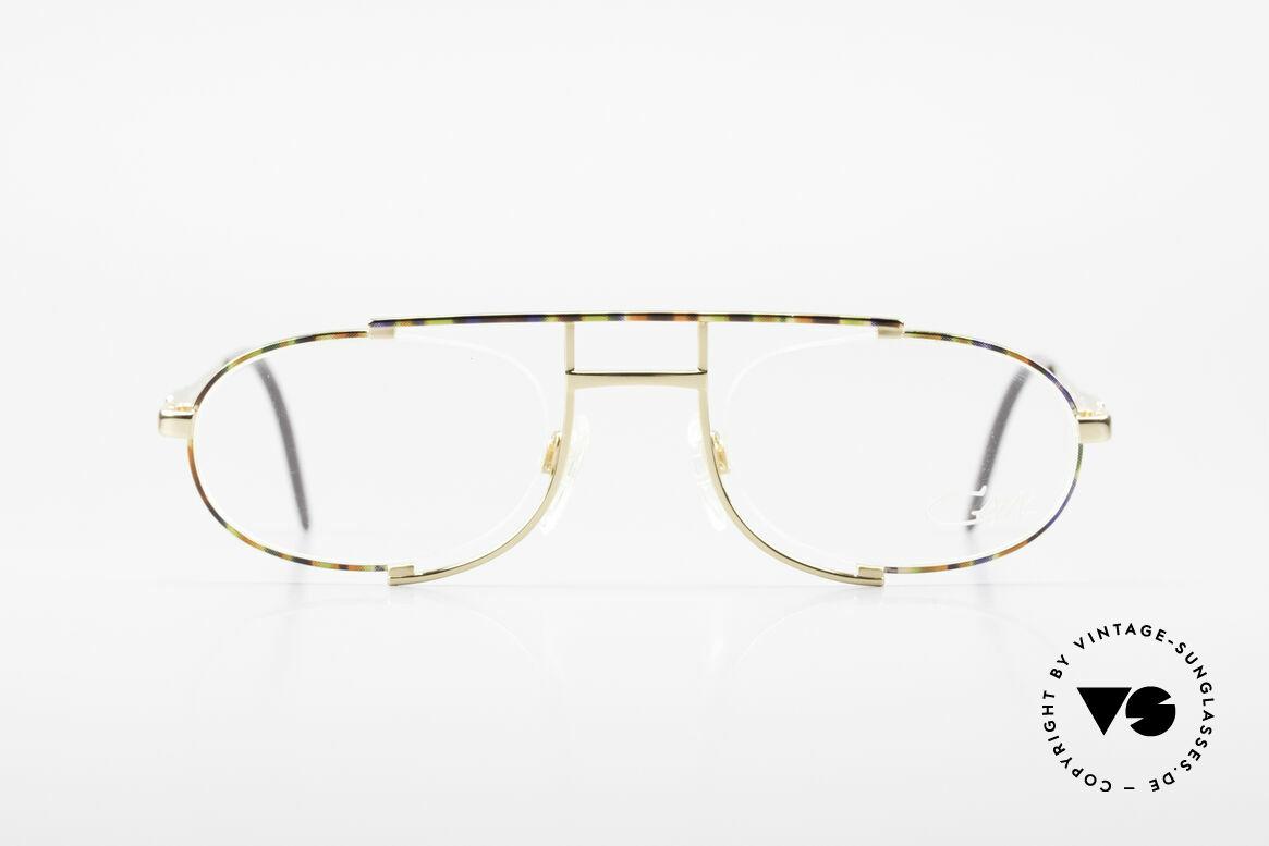 Cazal 753 Rare 90er Designer Fassung, außergewöhnliche, halbrahmenlose Brillenfassung, Passend für Herren