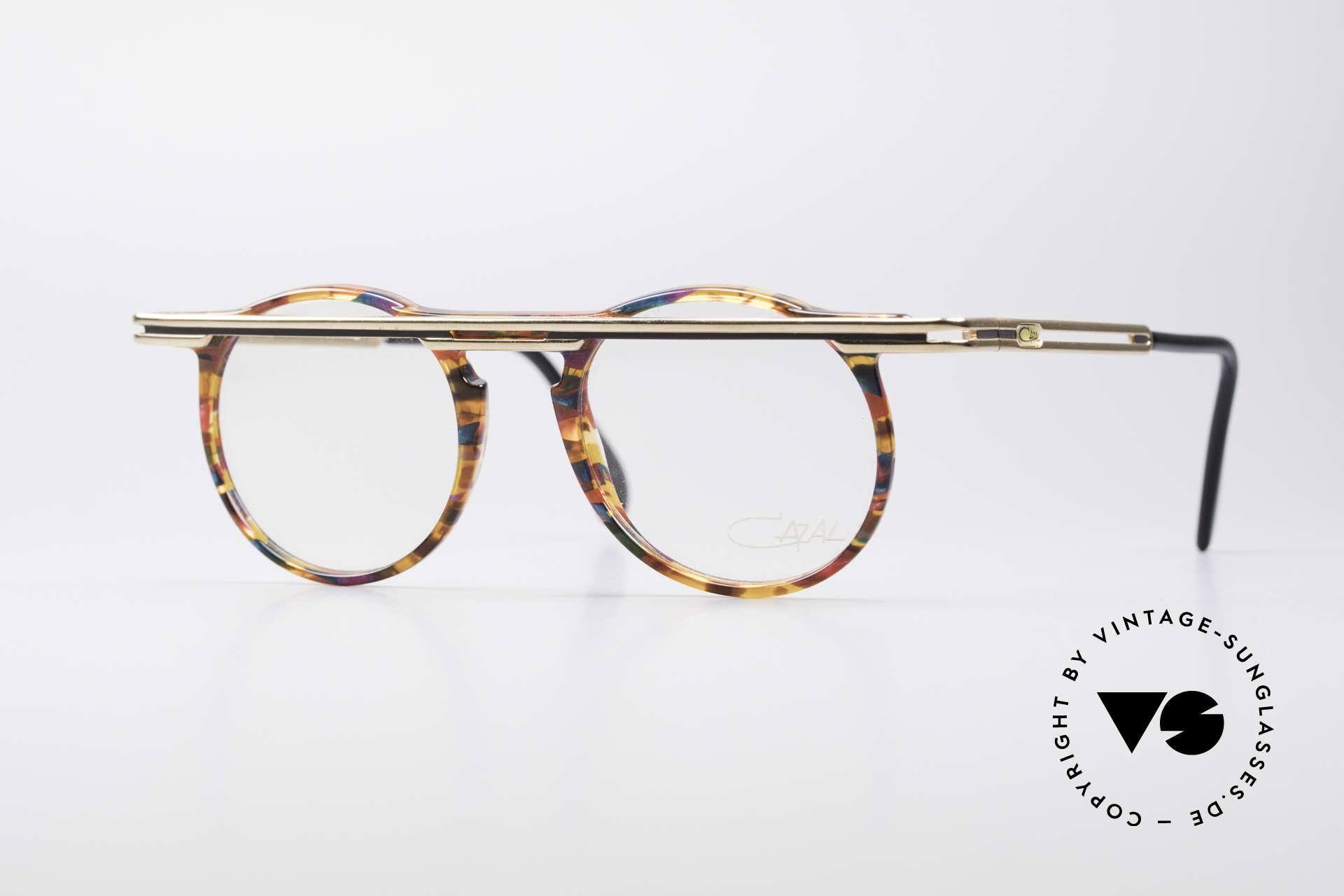 Cazal 648 Original Cari Zalloni Brille, außergerwöhnliche Cazal vintage Brille von 1990, Passend für Herren und Damen