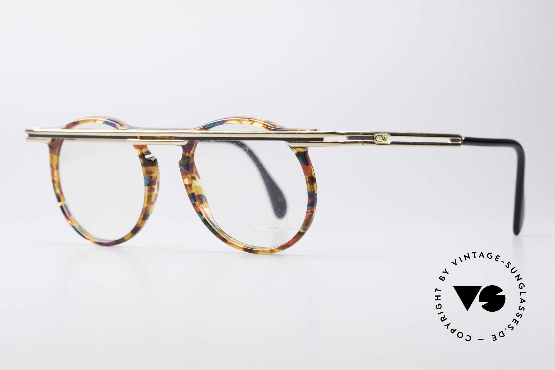 Cazal 648 Original Cari Zalloni Brille, extrovertierte Rahmengestaltung in Farbe & Form, Passend für Herren und Damen