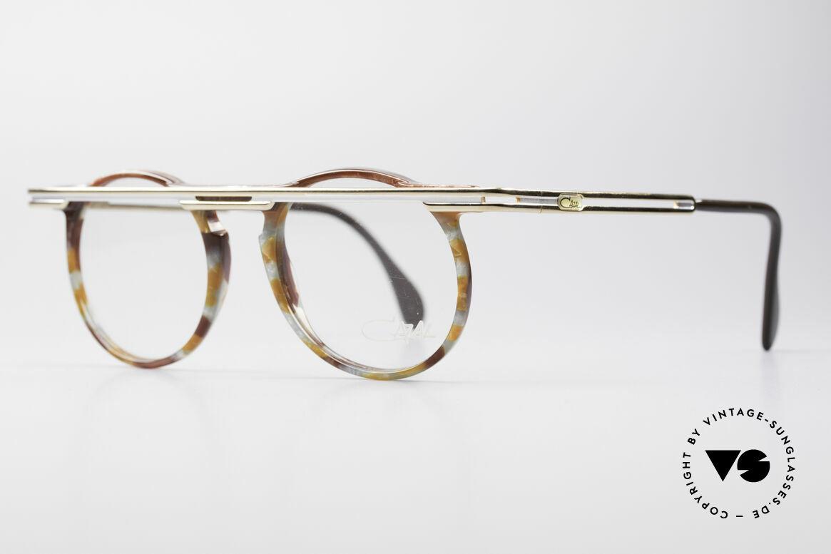 Cazal 648 90er Cari Zalloni Vintage Brille, extrovertierte Rahmengestaltung in Farbe & Form, Passend für Herren und Damen