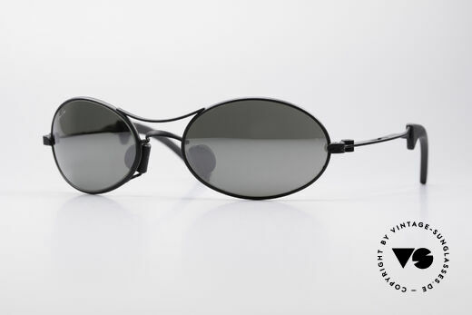 Ray Ban Orbs 9 Base Oval Silver Mirror B&L USA Brille Details