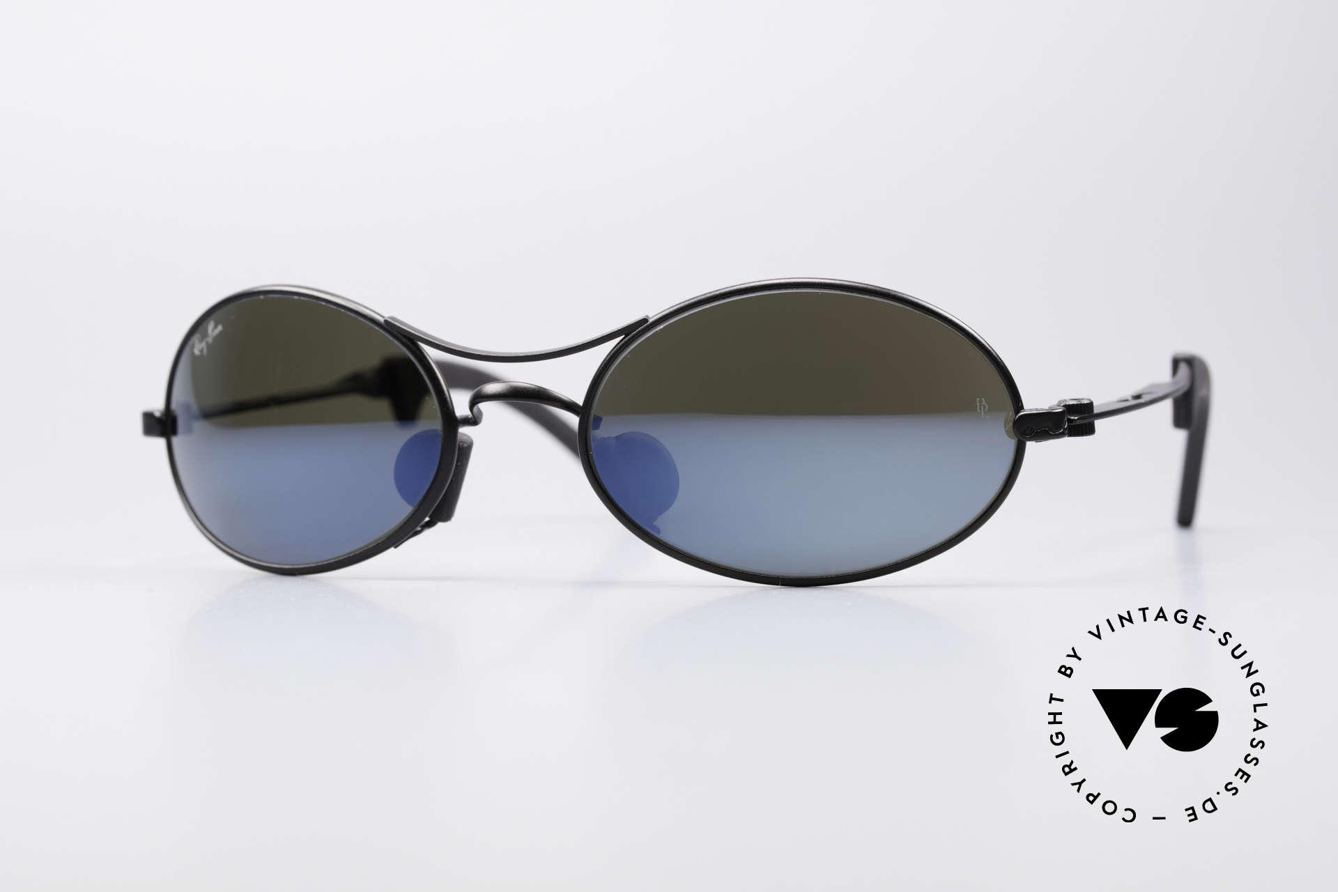 Ray Ban Orbs 9 Base Oval Blue Mirror B&L USA Brille, futuristische Sportbrille von Ray Ban - perfekter Sitz, Passend für Herren