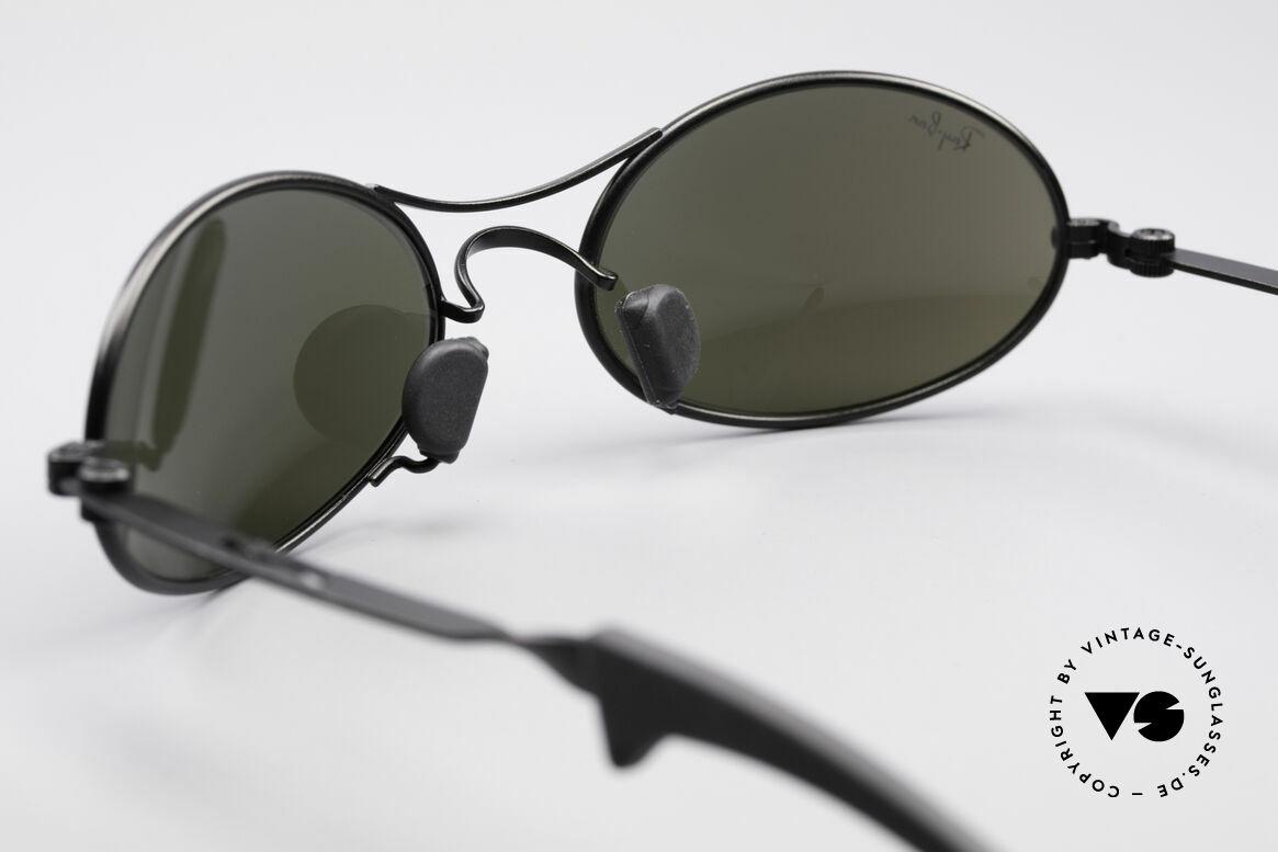 Ray Ban Orbs 9 Base Oval Blue Mirror B&L USA Brille, blau-verspiegelte Bausch&Lomb B&L Mineral-Gläser, Passend für Herren