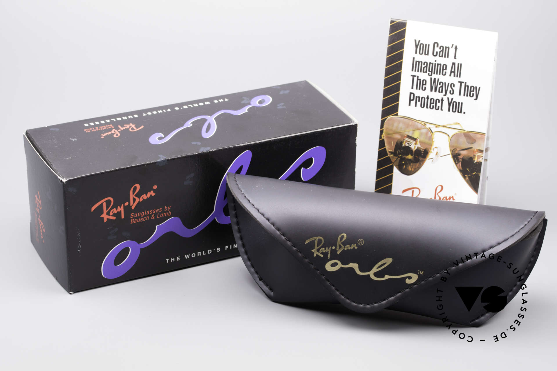 Ray Ban Orbs 9 Base Oval Blue Mirror B&L USA Brille, Größe: medium, Passend für Herren