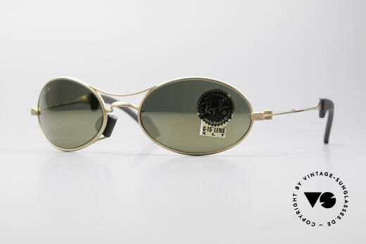 Ray Ban Orbs 9 Base Oval Gold Mirror B&L USA Brille Details