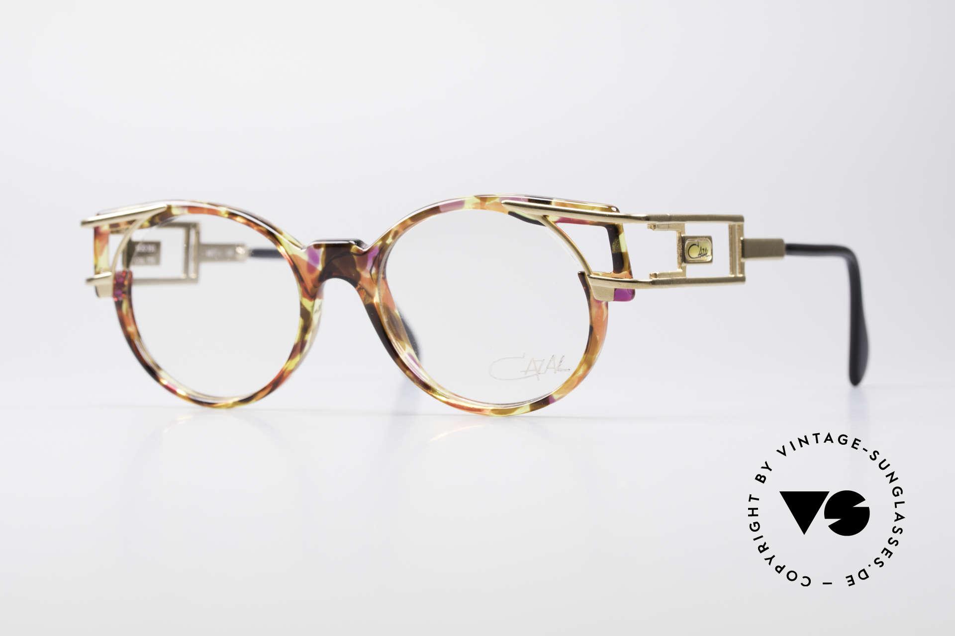 Cazal 353 90er Old School Vintage Brille, alte vintage Cazal Designerbrille aus dem Jahre 1991, Passend für Herren und Damen