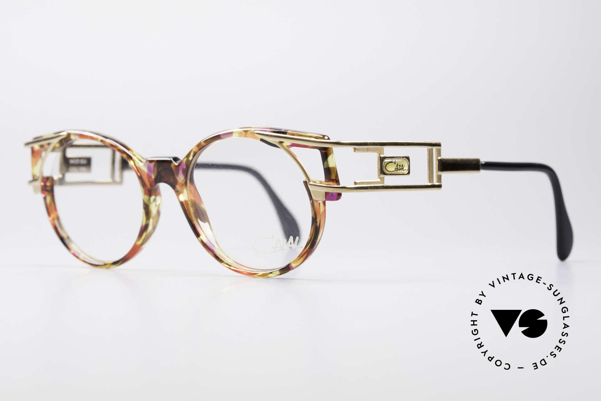 Cazal 353 90er Old School Vintage Brille, Bügelform identisch dem legendären Cazal Mod. 958, Passend für Herren und Damen