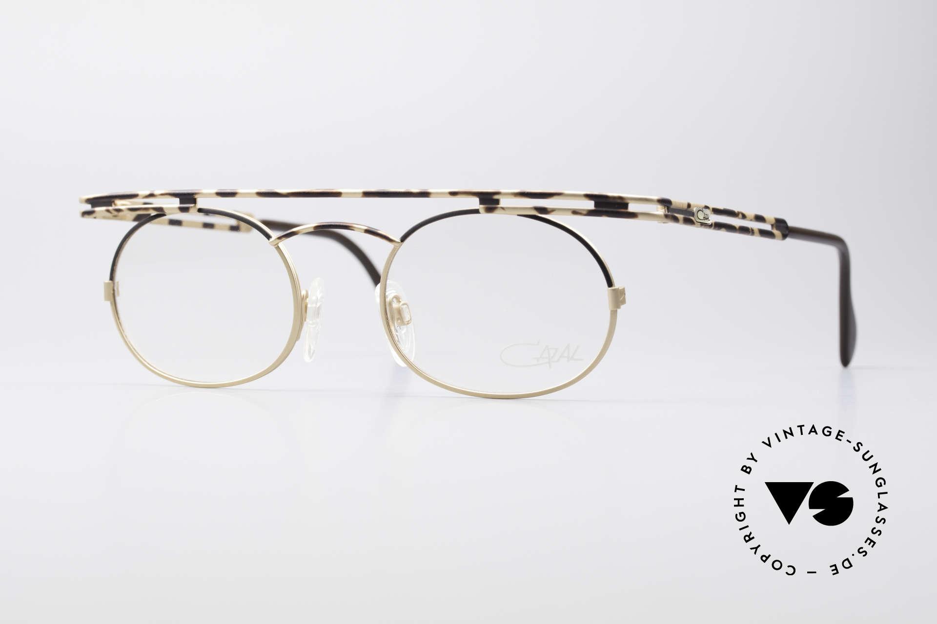 Cazal 761 KEINE Retrobrille Vintage Brille, ausdrucksstarke CAZAL vintage Brille von 1997, Passend für Herren und Damen
