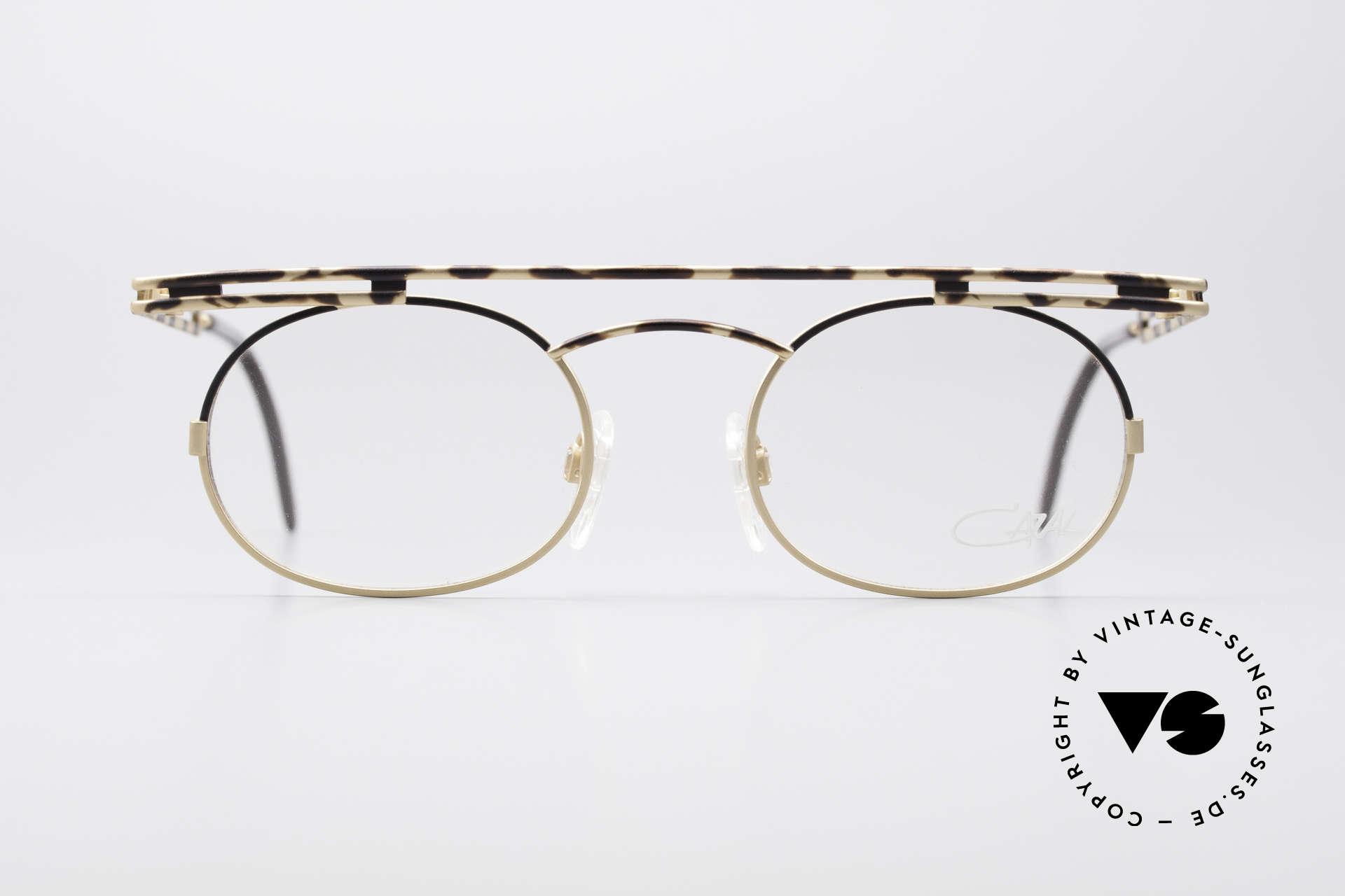 Cazal 761 KEINE Retrobrille Vintage Brille, rund und kantig zugleich; ein echter Hingucker, Passend für Herren und Damen