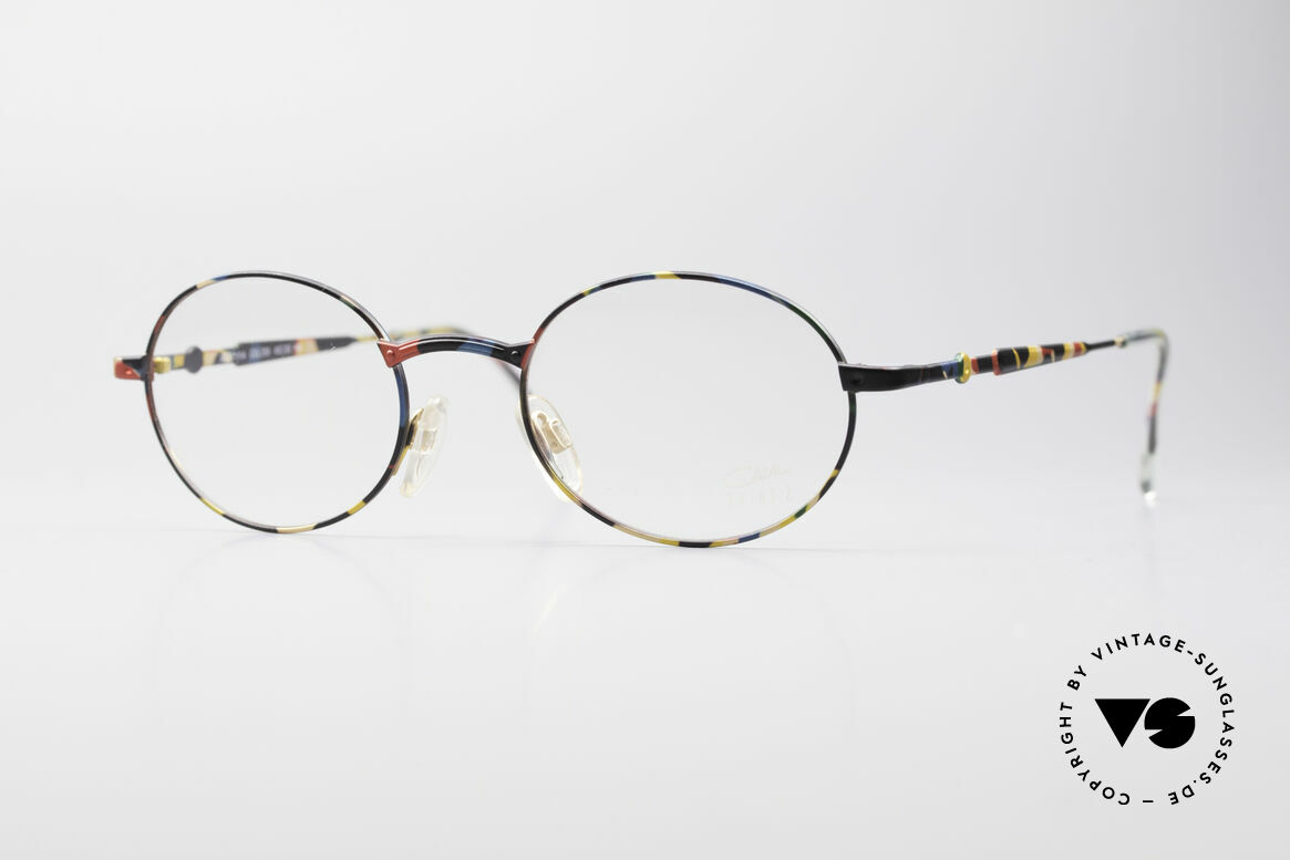 Cazal 1114 - Point 2 Runde Ovale Vintage Brille, ovale Brille der 'Cazal Point 2' Kollektion von 1999, Passend für Herren und Damen